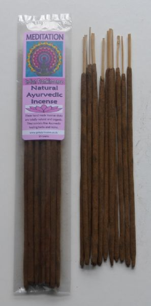Meditation - Natural Ayurvedic Healing Incense Sticks - Indian Frankincense - 20 gram